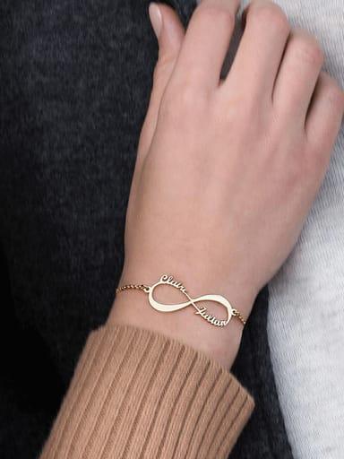 Custom Stainless steel Lettering Identification Friend Bracelet