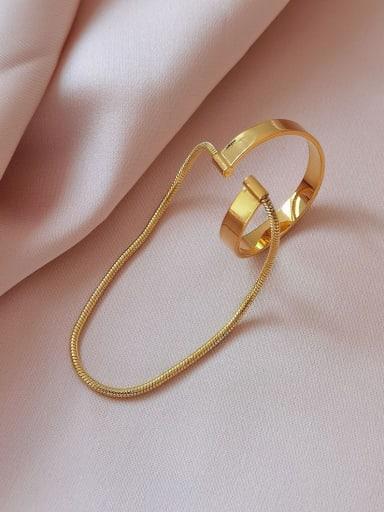 Brass Hollow Geometric Minimalist Clip Earring