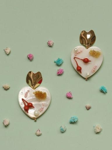 Alloy Acrylic Heart Cute Drop Earring