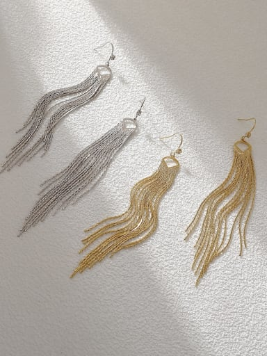 Brass Tassel Vintage Threader Earring