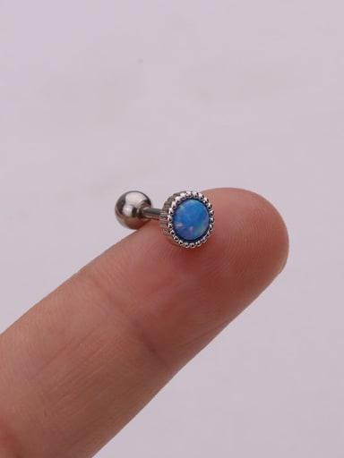 Royal Blue(Single) Brass Opal Geometric Cute Stud Earring