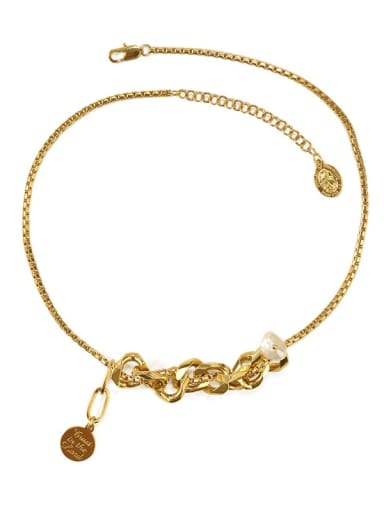 Brass Freshwater Pearl Locket Vintage Necklace