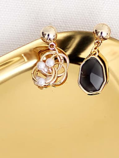 black Copper Resin Geometric Bohemia Drop Trend Korean Fashion Earring