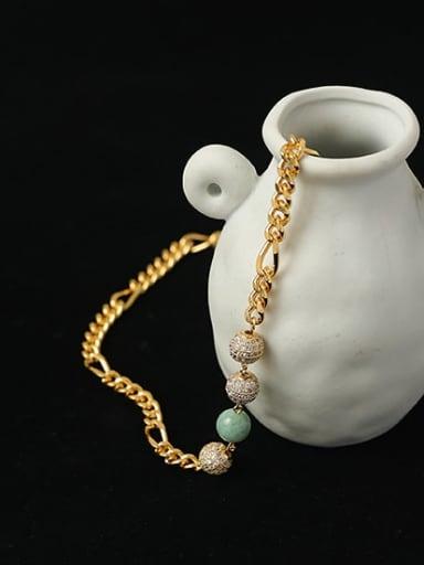 Brass Cubic Zirconia Ball Hip Hop Necklace