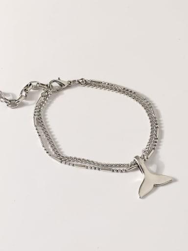 Alloy Fish tail Vintage Strand Bracelet