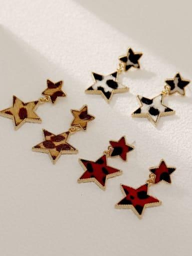 Brass Star Vintage Drop Earring