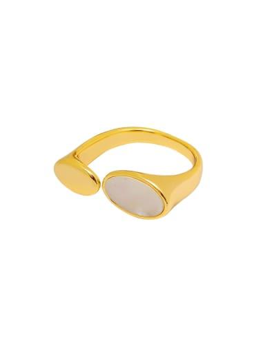 Brass Shell Geometric Minimalist Band Ring