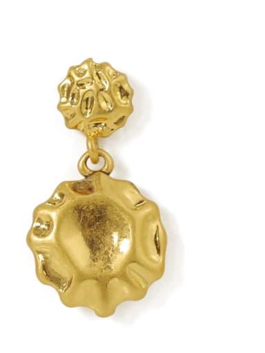 circular Brass Heart Vintage Chandelier Earring