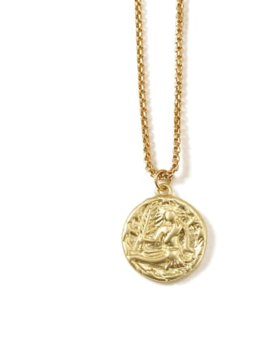 Virgo Brass coin Minimalist Twelve constellations Pendant Necklace