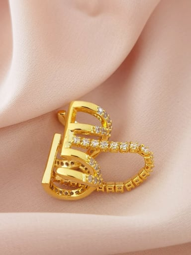 16K gold (single) Brass Cubic Zirconia Geometric Vintage Single  Clip Earring