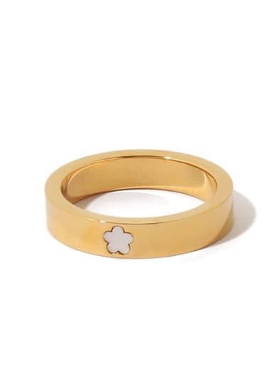 Brass Shell Flower Minimalist Band Ring