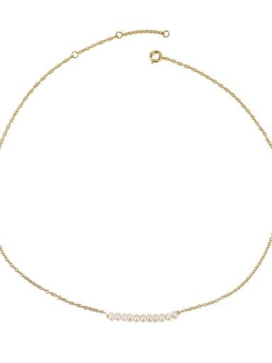 Many pearls Brass Freshwater Pearl Locket Minimalist Necklace