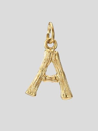 A 14K Gold Titanium 26 Letter Minimalist Initials Necklace