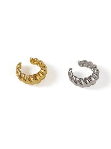 Brass Geometric Hip Hop Clip Earring