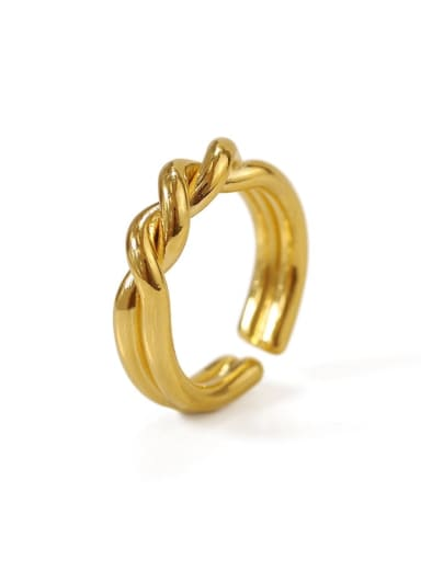 Brass Irregular Vintage Twist Midi Ring