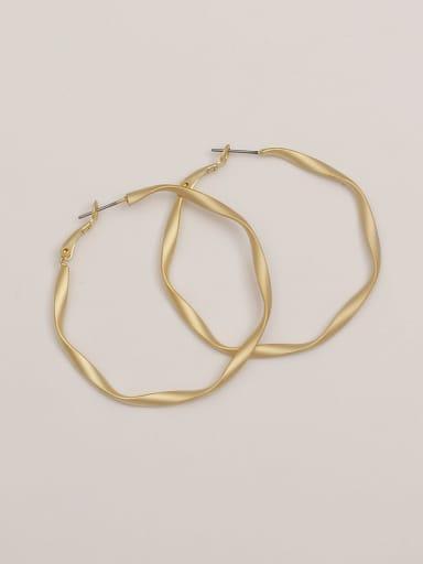 Dumb gold Brass Hollow Geometric Minimalist Hoop Earring