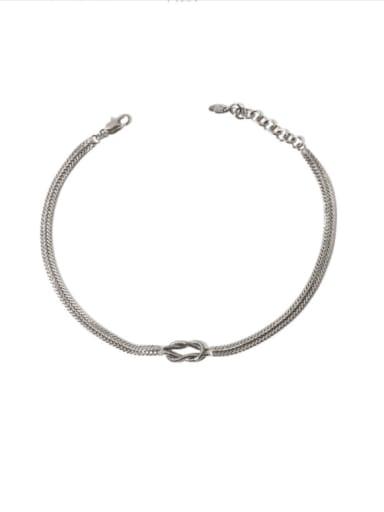 Brass knot Hip Hop Multi Strand Necklace