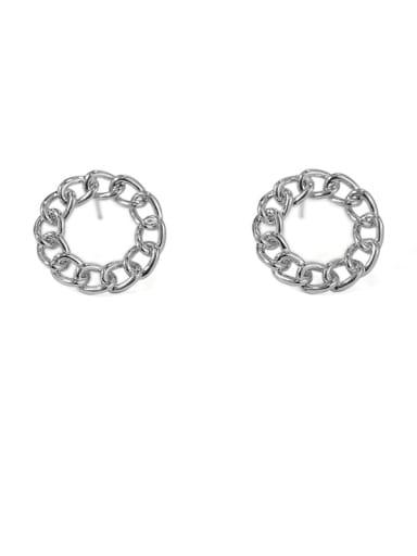 Item 1 Brass Hollow Round Vintage Stud Earring