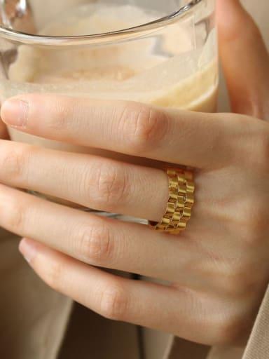Titanium smooth Geometric Vintage Band Ring