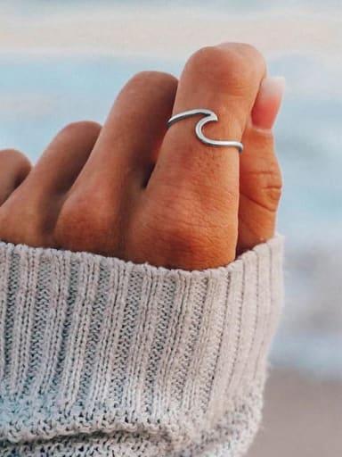 Titanium Irregular Minimalist Band Ring