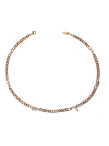 Brass Imitation Pearl Locket Minimalist Necklace