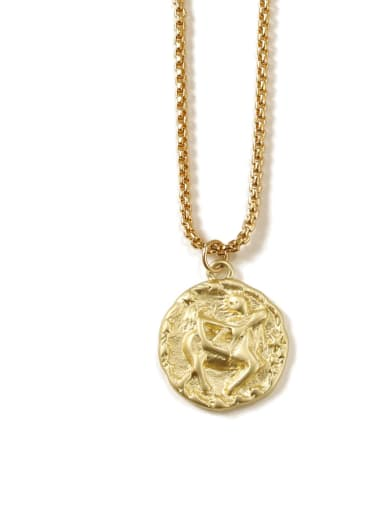 sagittarius Brass coin Minimalist Twelve constellations Pendant Necklace