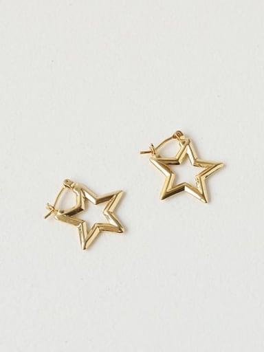 Brass Hollow Star Vintage Drop Earring