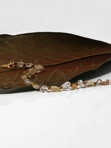 Brass Imitation Pearl Irregular Hip Hop Beaded Bracelet