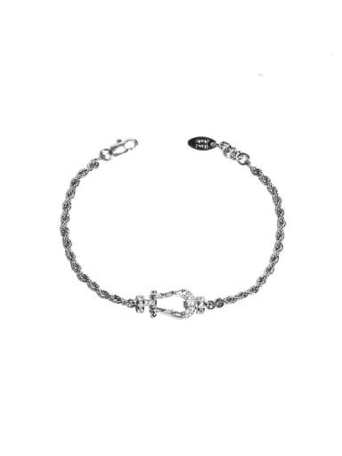 Zircon Bracelet Brass Hollow Geometric zircon Vintage Chain Necklace