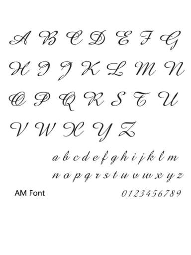 Am font Stainless steel Letter Minimalist  Name custom name ring
