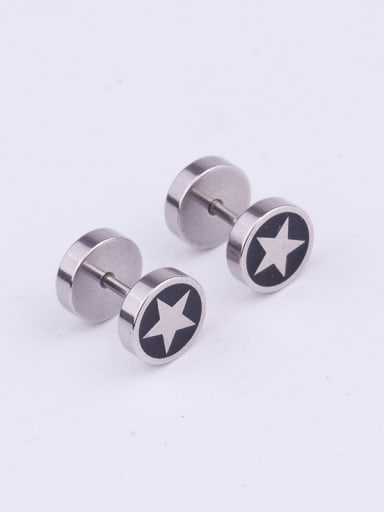 4# Steel Color Stainless steel Bell Minimalist Stud Earring