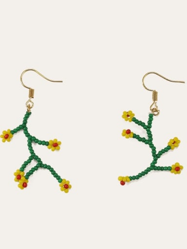 Alloy Bead Flower Cute Hook Earring