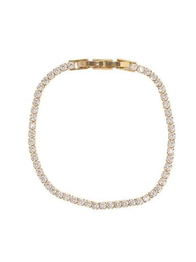 Gold Bracelet Brass Cubic Zirconia Star Dainty Necklace