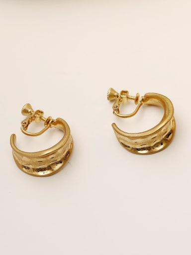 Brass Irregular Vintage Clip Earring