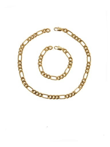 Brass Geometric Vintage Hollow chain Choker Necklace