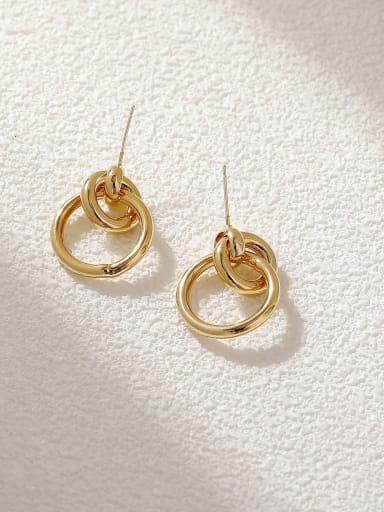 Brass Geometric Minimalist Drop Earring