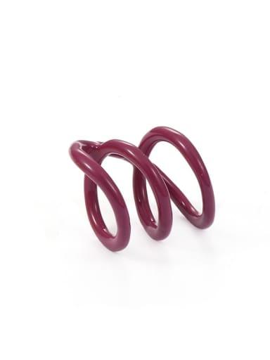 Purple Zinc Alloy Enamel Geometric Minimalist Stackable Ring