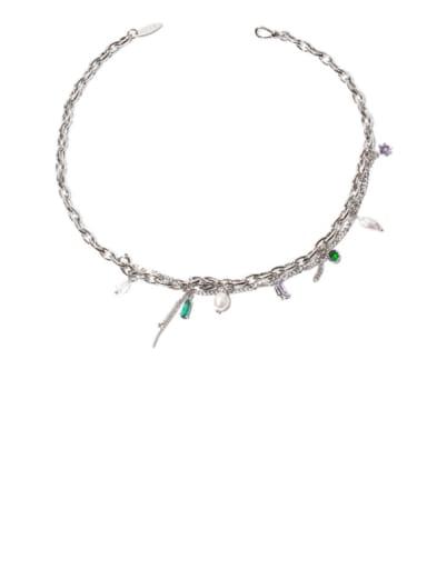 Brass Freshwater Pearl Tassel Ethnic Necklace