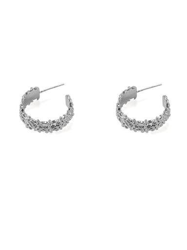 Item 2 Brass Hollow Geometric Vintage Stud Earring