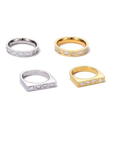 Titanium Steel Shell Geometric Minimalist Band Ring
