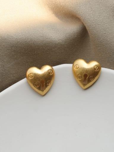 love Brass Heart Vintage Chandelier Earring