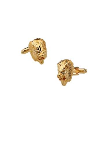 Brass Lion Vintage Cuff Link