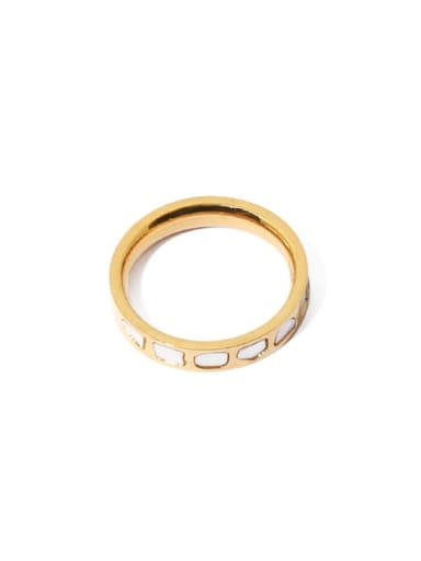 golden Brass Shell Irregular Vintage Band Ring