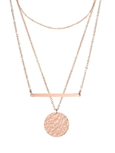 rose gold Stainless steel Geometric Dainty Multi Strand Necklace