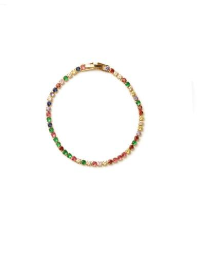 Bracelet Brass Cubic Zirconia Multi Color Geometric Vintage Choker Necklace