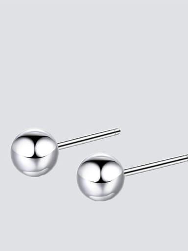 Ye15761 steel color Stainless steel Round Minimalist Stud Earring