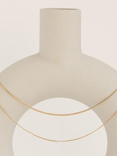 Brass Geometric Minimalist Snake Chain