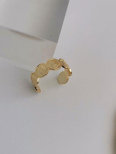 Copper Geometric Artisan Signet Ring
