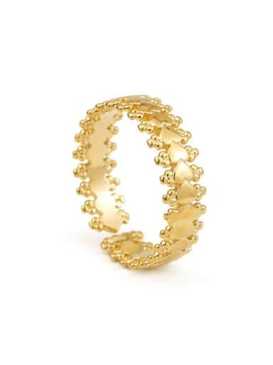 Golden love Brass Irregular Minimalist Midi Ring