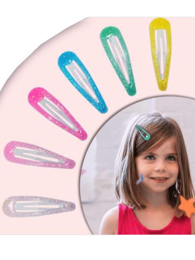 Alloy Enamel Cute Water Drop  Multi Color Hair Barrette